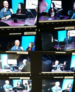 Behind the scenes of taping the Take 2 TV promo.