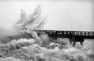 Bridge in storm